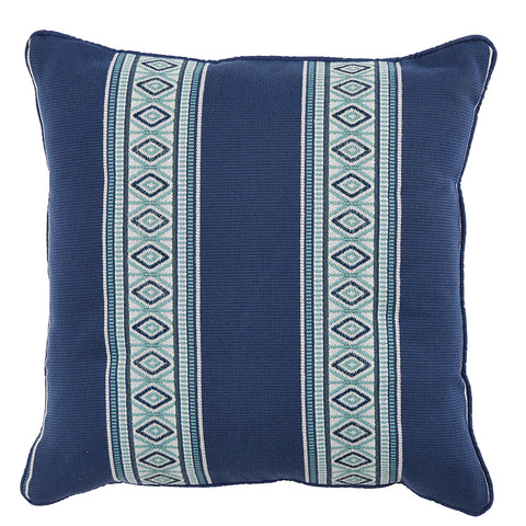 Posie Outdoor Pillow, Indigo