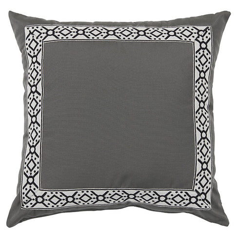 Kara Outdoor Pillow, Pewter