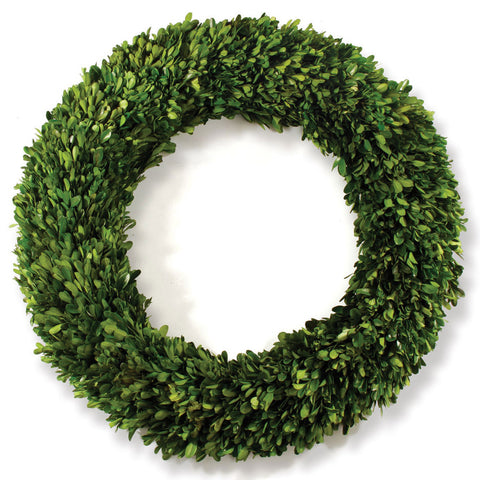 "Preserved Boxwood 24"" Wreath"