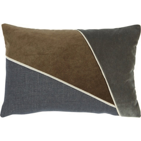 Trio Lumbar Pillow, Charcoal