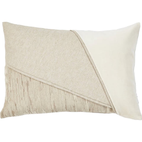Trio Lumbar Pillow, Cream