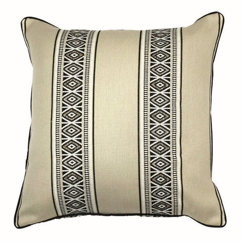 Posie Outdoor Pillow, Charcoal