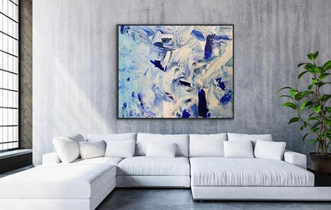 """Blue Magic"" 48x60 original artwork commission on canvas by BB La."