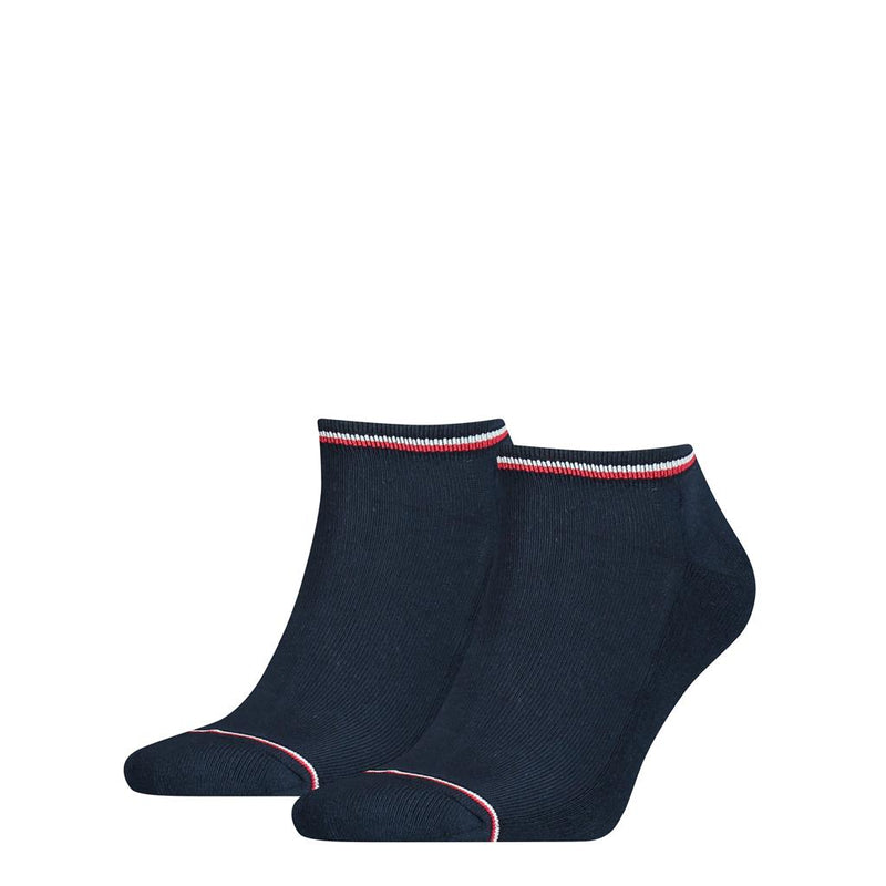Tommy Hilfiger Iconic Sneaker Socks 2 Pack - Navy