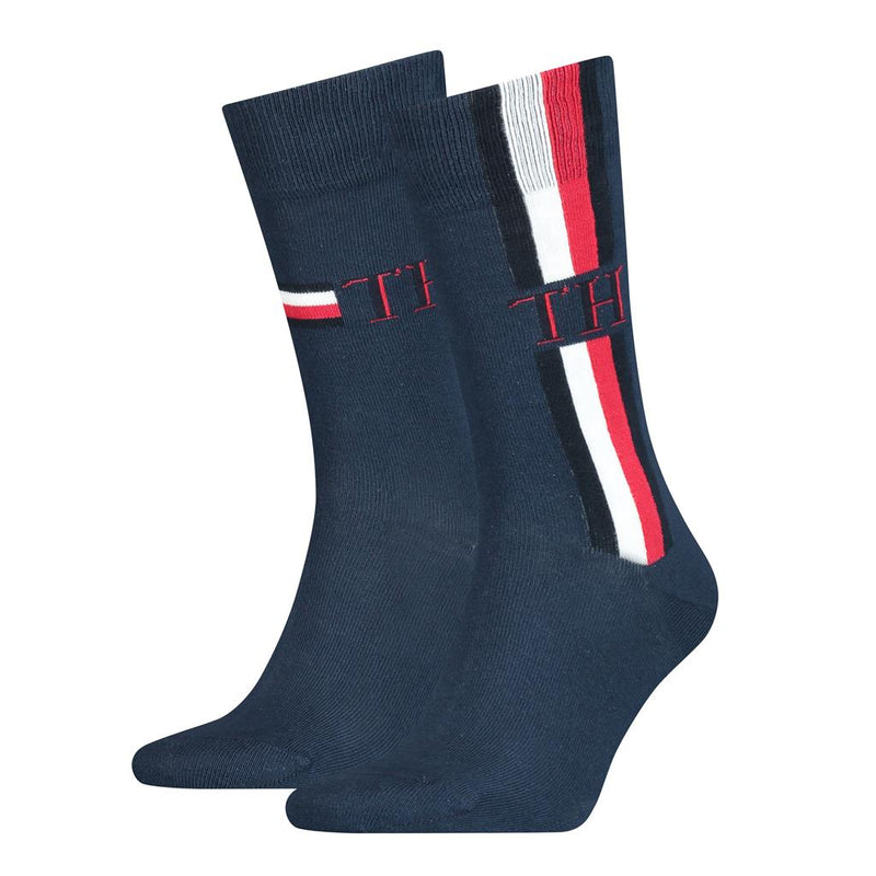 Tommy Hilfiger Iconic Stripe Socks 2 Pack - Navy