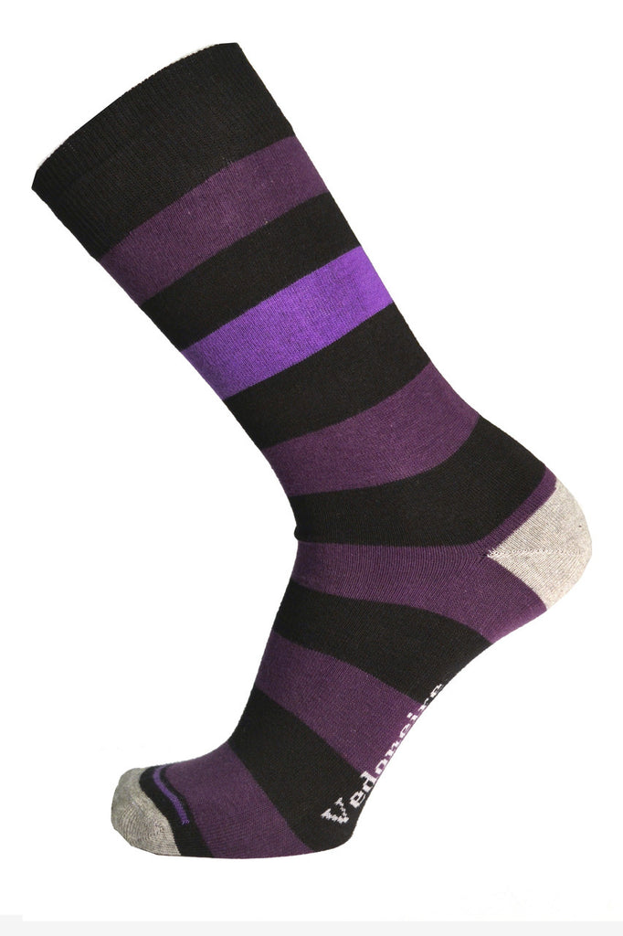 Vedoneire Stripy Cotton Socks Purple/Black