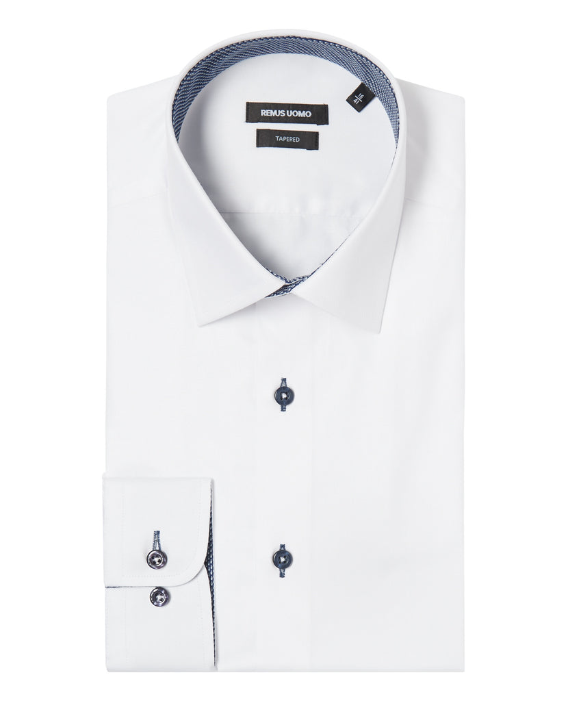 Remus Uomo Tapered Fit Shirt - White
