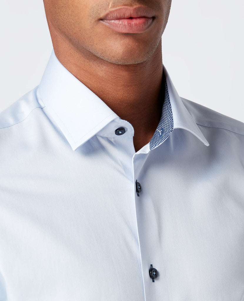 Remus Uomo Tapered Fit Shirt - Sky Blue