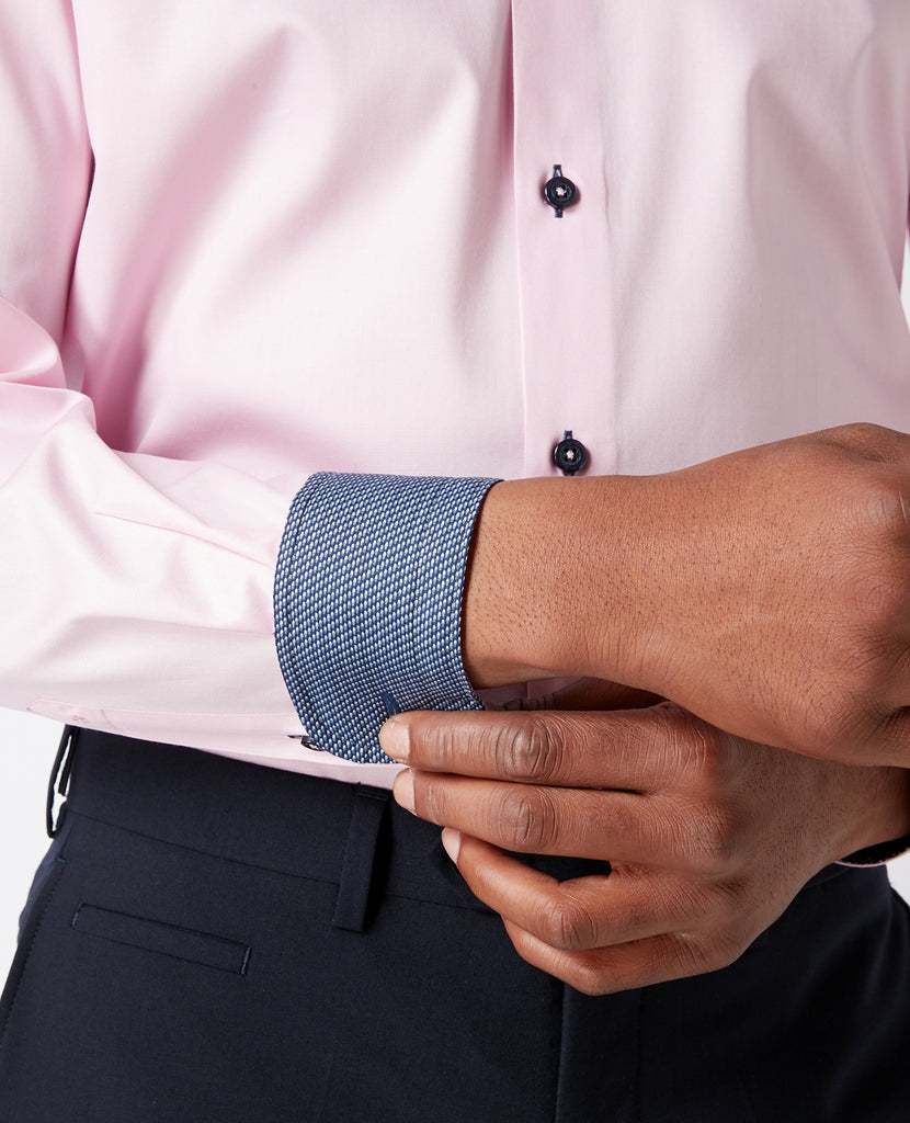 Remus Uomo Tapered Fit Shirt - Pink