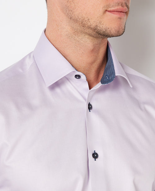 Remus Uomo Tapered Fit Shirt - Lilac
