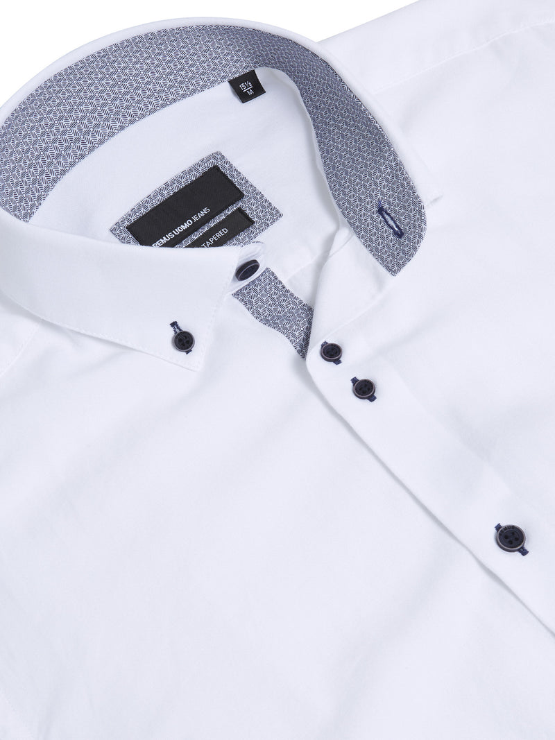 Remus Uomo Tapered Fit Casual Shirt - White