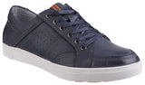 Cotswold Navy Leather Casual Shoe