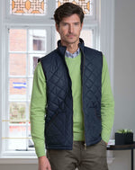 Vedoneire Fleece Lined Quilted Gilet - Navy