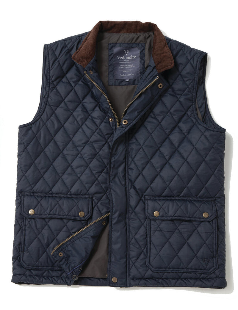 Vedoneire Quilted Gilet - Navy