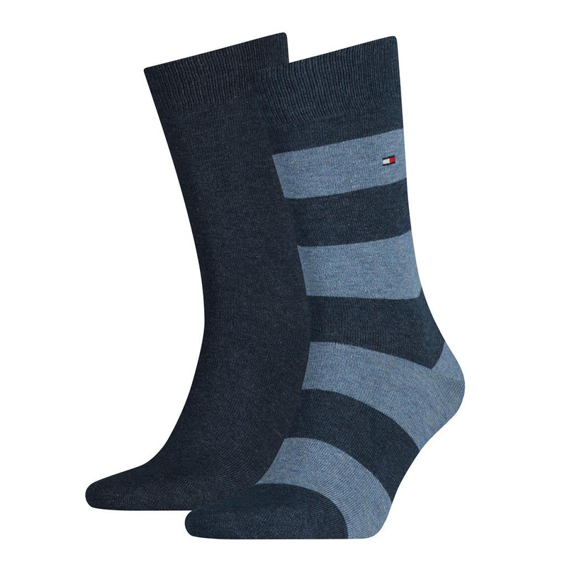 Tommy Hilfiger Rugby Stripe Socks 2 Pack - Jeans Blue