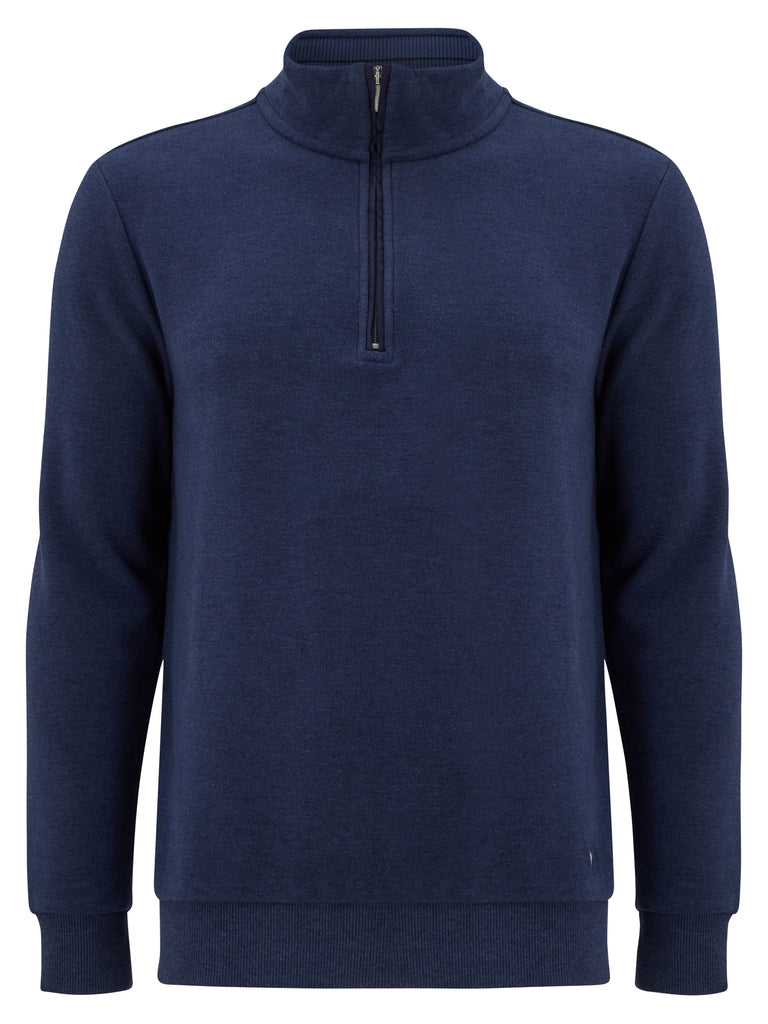 DG's Drifter Zip Neck Cotton Top - Dark Blue