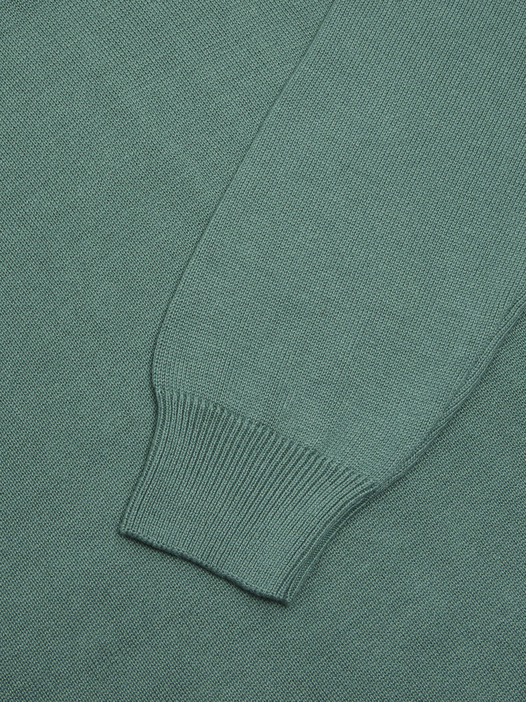Drifter V-Neck Cotton Blend Jumper - Light Green