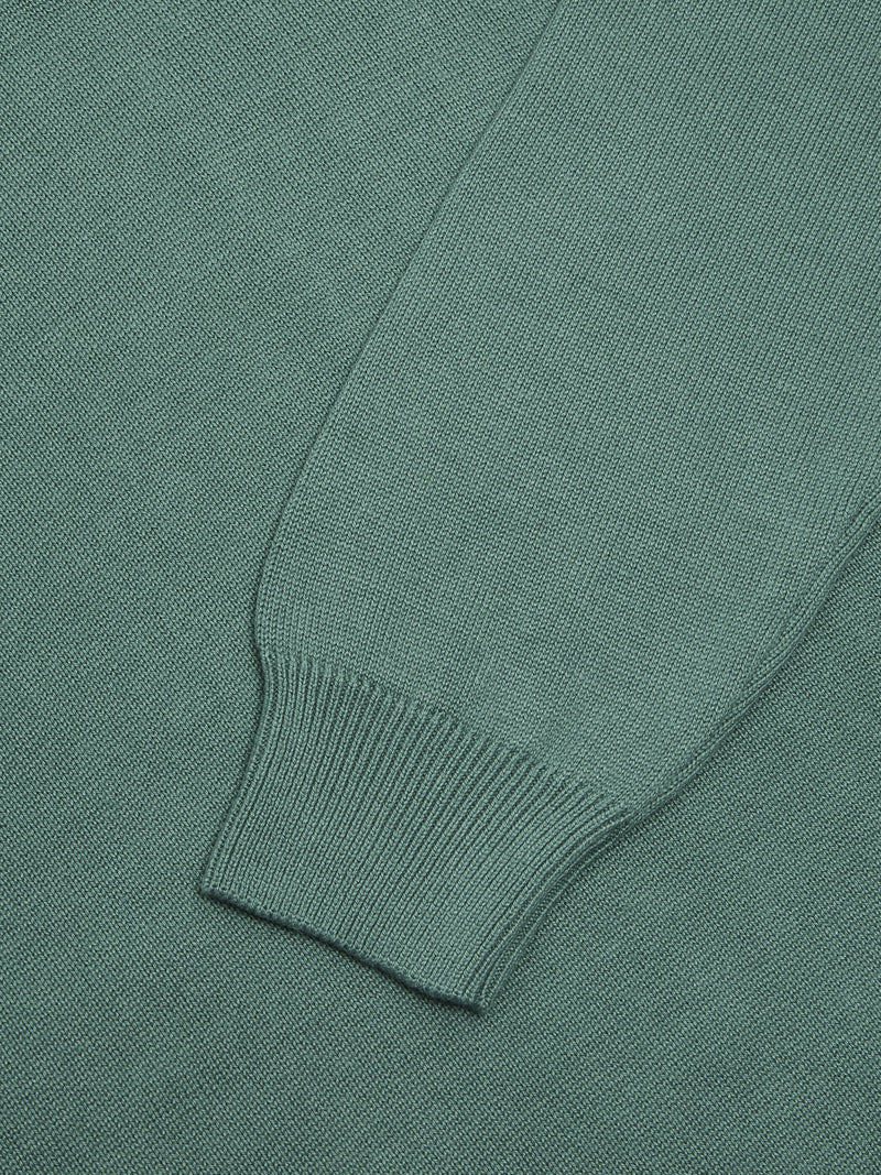 DG's Drifter Round Neck Cotton Blend Jumper - Light Green