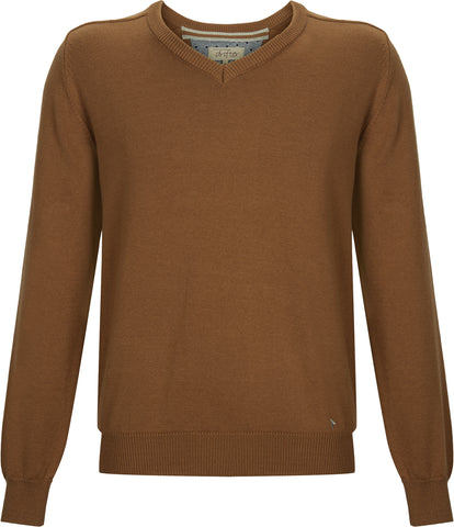 Drifter V-Neck Cotton Blend Pullover - Royal Blue