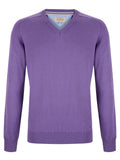 Drifter V-Neck Cotton Blend Pullover - Lilac