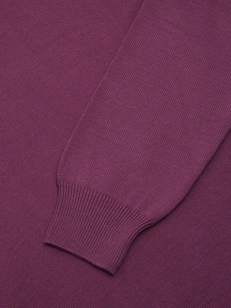 DG's Drifter Round Neck Cotton Blend Jumper - Purple