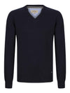 DG's Drifter V-Neck Cotton Blend Jumper - Navy