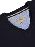 Drifter V-Neck Cotton Blend Pullover - Navy