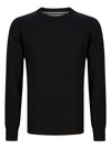 DG's Drifter Round Neck Cotton Blend Jumper - Black
