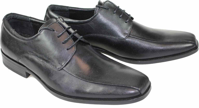 Dice Leather Laced Shoe - Black