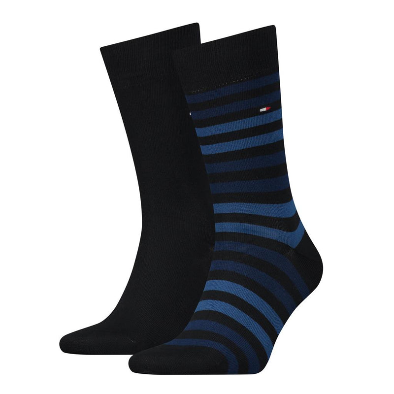 Tommy Hilfiger Duo Stripe Socks 2 Pack - Navy