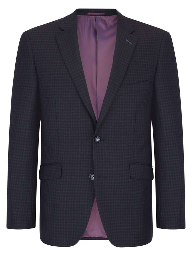 Daniel Grahame Check Jacket - Navy