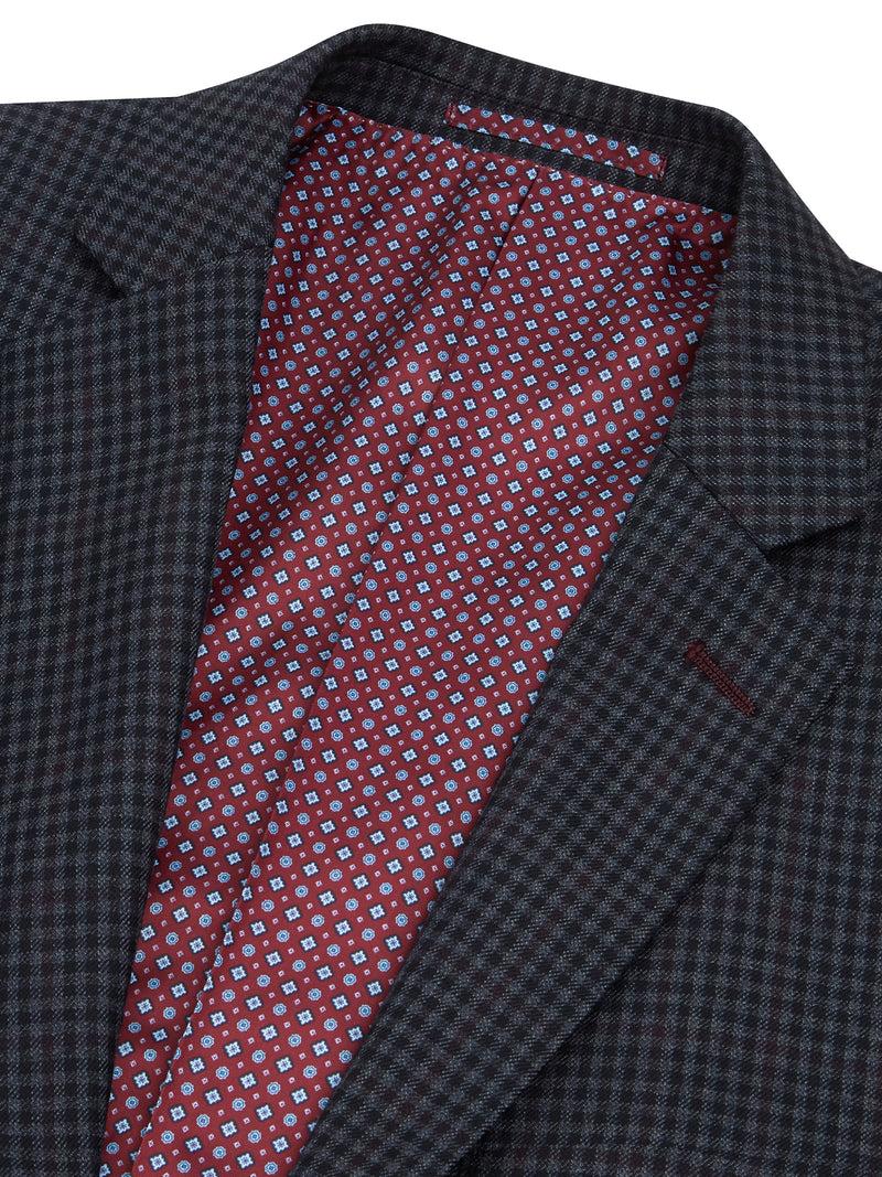 Daniel Grahame Wool Blend Check Jacket - Grey