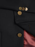 Wellington Wool Blend Club Blazer - Black