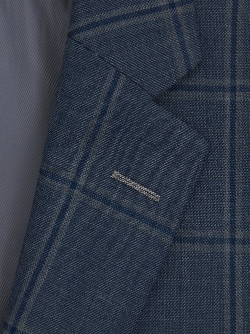 Daniel Grahame Tapered Fit Mix & Match Suit Jacket - Blue Check