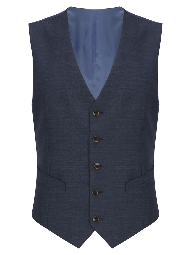 Daniel Grahame Tapered Fit Mix & Match Suit Waistcoat - Blue