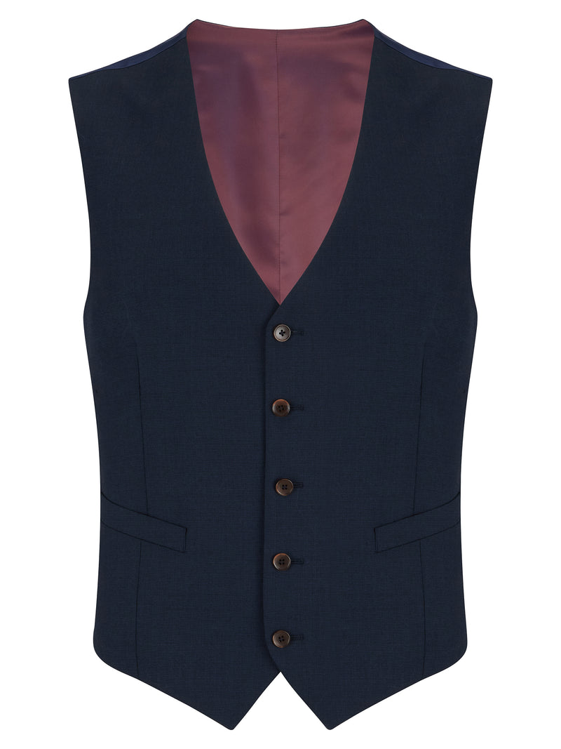 Daniel Grahame Tapered Fit Mix & Match Suit Waistcoat - French Navy