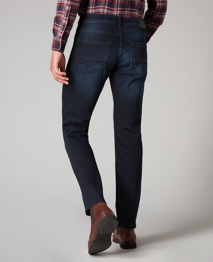 Remus Uomo Tapered Fit Washed Navy Jean