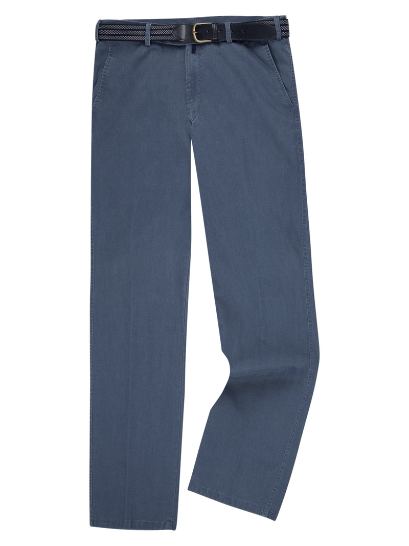 DG's Drifter Cotton Stretch Casual Trouser - Blue