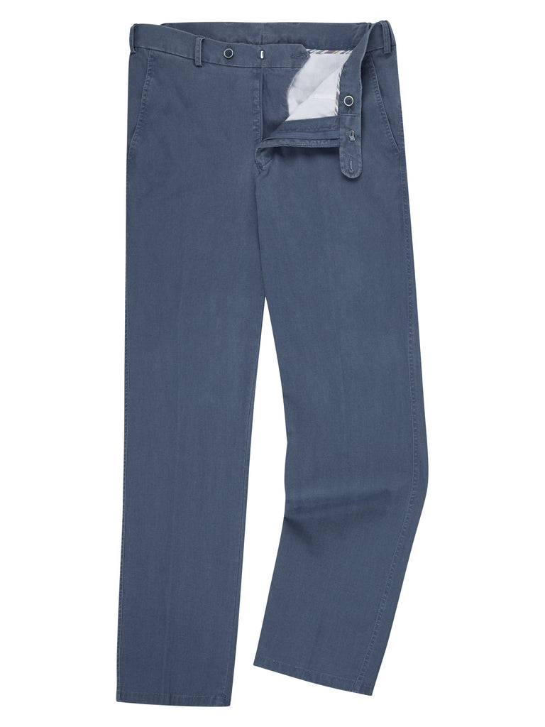 Drifter Cotton Stretch Casual Trouser - Blue