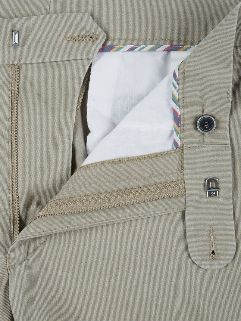 DG's Drifter Cotton Stretch Casual Trouser - Stone