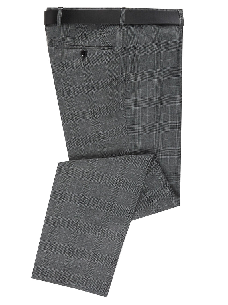 Daniel Grahame Checked Trouser - Grey