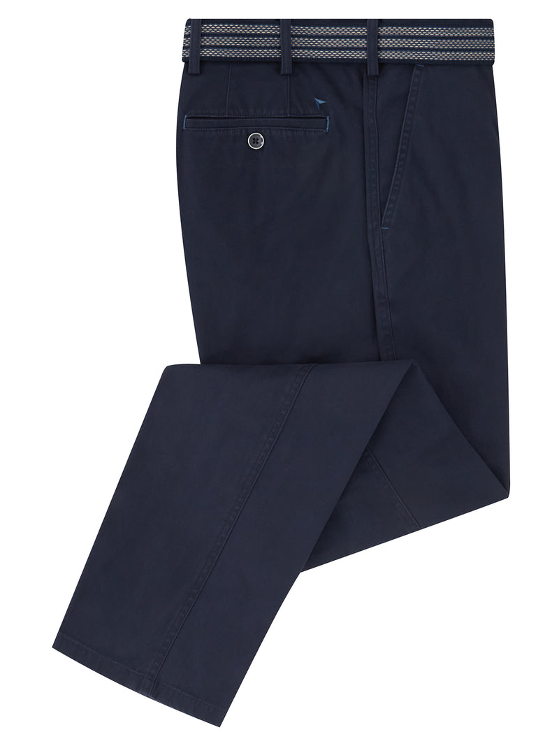 DG's Drifter Cotton Stretch Casual Trouser - Navy