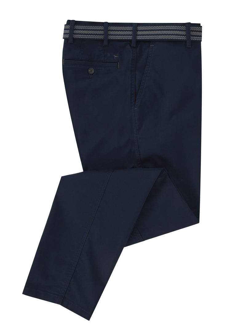 DG's Drifter Cotton Stretch Casual Trouser - Dark Blue