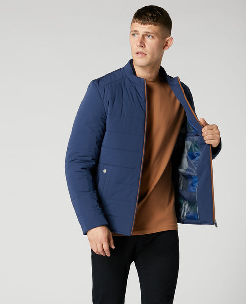 Remus Uomo Balvin Casual Jacket - Dark Blue
