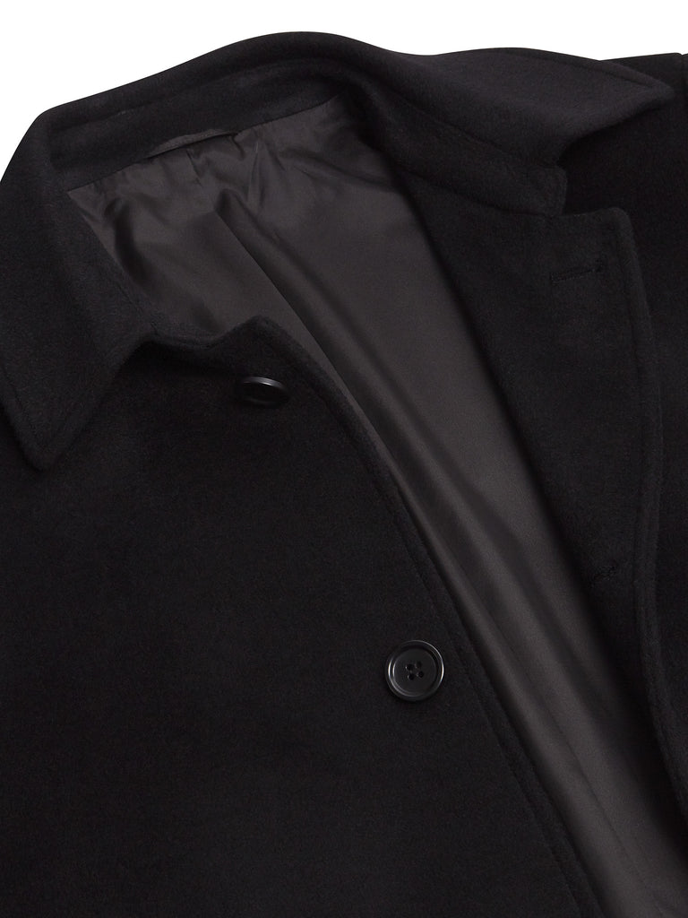 Daniel Grahame Branson Wool Coat - Black