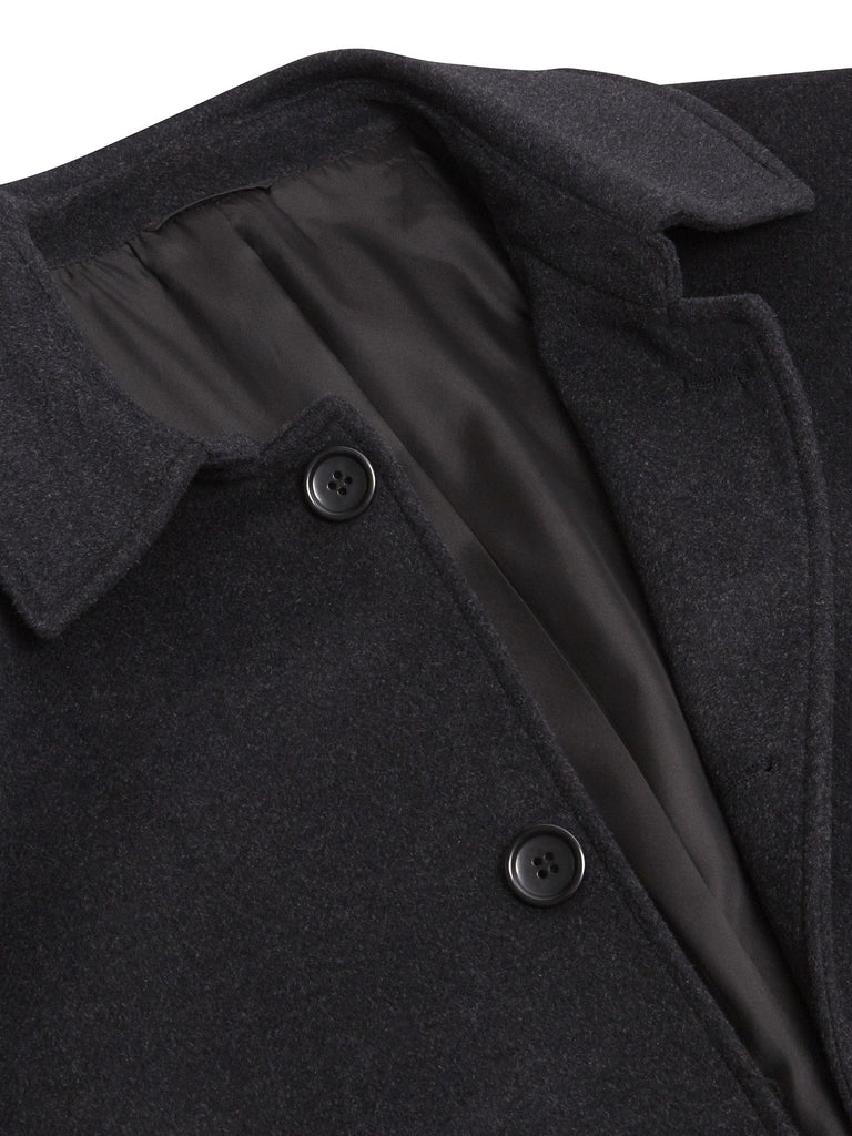 Daniel Grahame Branson Wool Coat - Dark Grey