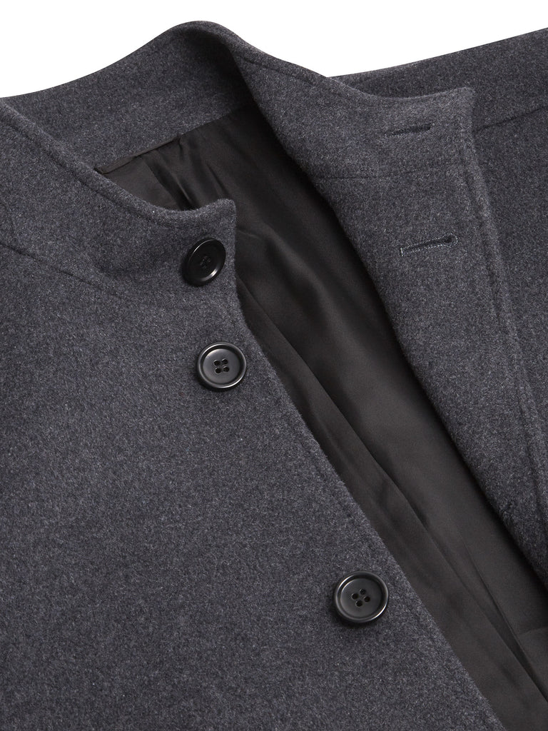 Daniel Grahame Watson Wool Coat - Grey