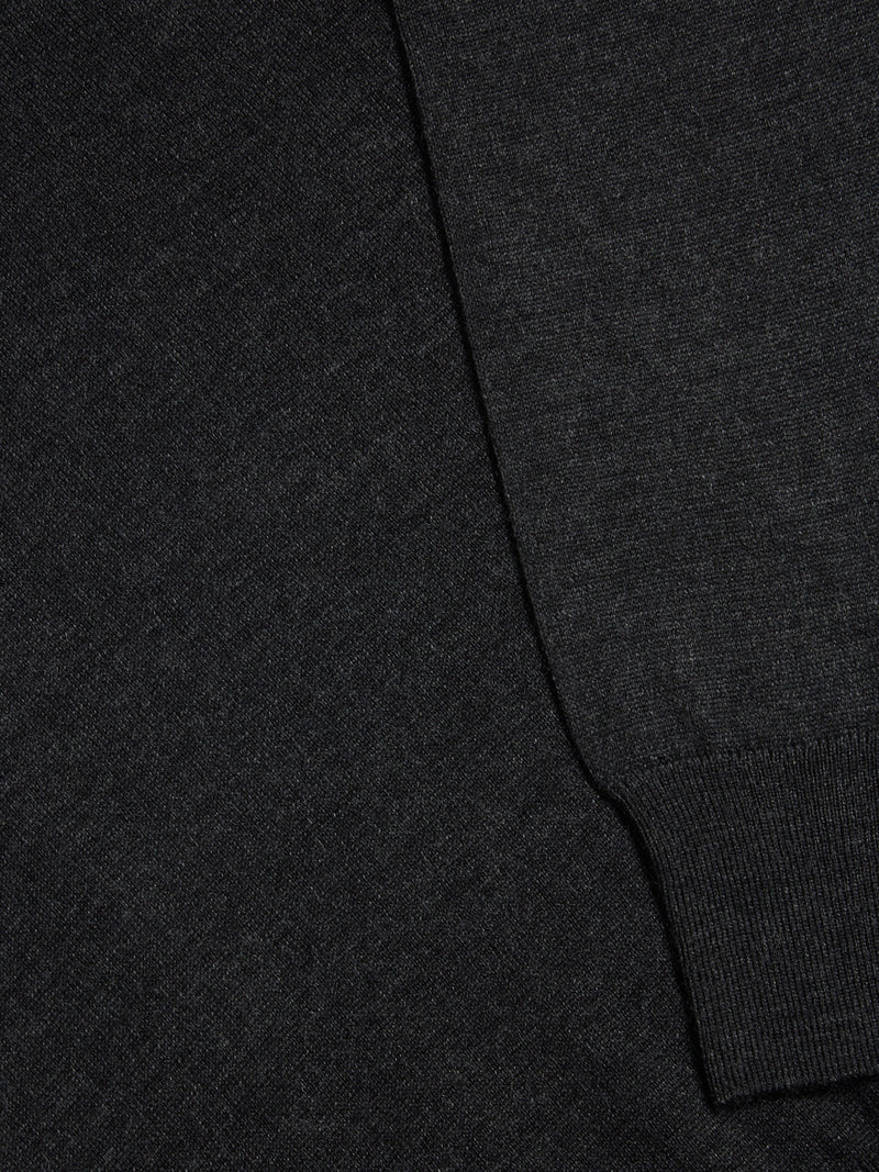 Remus Uomo Tapered Fit Wool Blend Jumper - Charcoal Grey