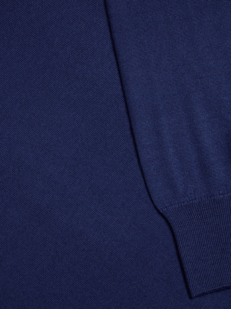 Remus Uomo Tapered Fit Wool Blend Jumper - Blue