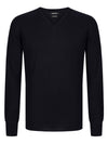 Remus Uomo Tapered Fit Wool Blend Jumper - Navy